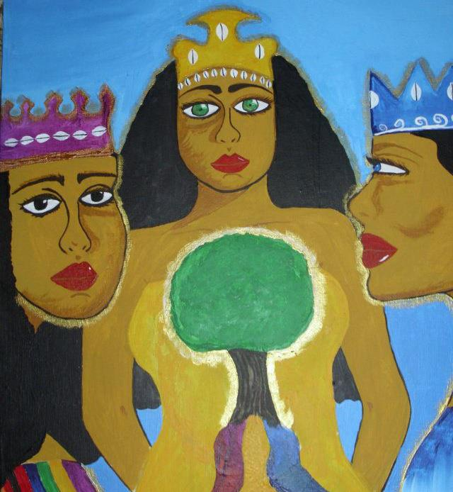 Oya, Oshun and Yemaya United by the tree of life.