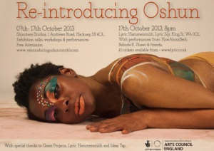 Publicity for the event Re Introducing Oshun