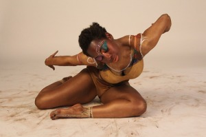 Creative Direction:  Janine Francois. Choreography: Stell Odunlami: Dancer: zinzi Minott. Photo: Zainab Adamu: Body Art: Estar Melbourne