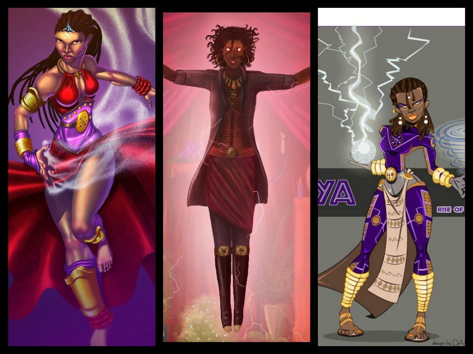 Yoruba Orishas Art Some of the Concept Art that