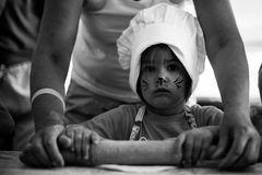 small-kid-cooking-homemade-cake-using-rolling-pin-grandma-kitchen-black-white-photo-small-cute-kid-kitchen-99462486